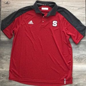 Adidas NC State Wolfpack Athletic Team Polo Sz XL